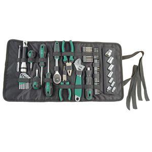 Professionelle Werkzeuge - 65-teilige Werkzeug-Rolltasche
