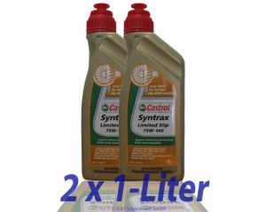 Castrol Syntrax Limited Slip 75w-140 2x 1 Liter