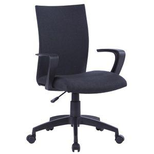 SixBros. Bürostuhl, Schreibtischstuhl mit Armlehnen & hoher Rückenlehne, ergonomischer Drehstuhl für's Büro oder Home-Office, stufenlos höhenverstellbar & leichtläufig, schwarz W-157A/8175