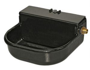 Schwimmertränke, 3-Liter, emailliert,schwarz m. Ablaufst