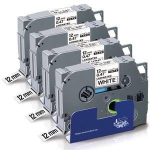 UniPlus 4x Kompatibel TZe 12mm Schriftband Ersatz für Brother P-Touch TZe-231  0.47 12mm Schwarz auf Weiß für Brother P-Touch H105 H110 H107B 1010 1000 D400VP D600 E100 Cube Plus