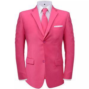 SIRUITON 2-tlg. Herrenanzug mit Krawatte Rosa Gr. 56