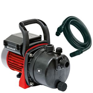 Einhell Gartenpumpen-Set GC-GP 6538 Set, Leistung 650 Watt, Fördermenge max. 3800 l/h, Förderhöhe max. 36 m, incl. 7 m Saugschlauch, 4180283