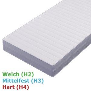 Kaltschaummatratze 7 Zonen ComfortPur 16cm H2 H3 H4 Atmungsaktiv, Größe:140 x 200 cm mit 7 Zonen, Härtegrad:H3