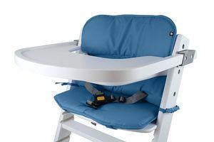 Universal Hochstuhl-Sitzkissen optimal Set mit Memory-Schaum Sitzverkleinerer-Auflage für Babystühle rutschfest Blau