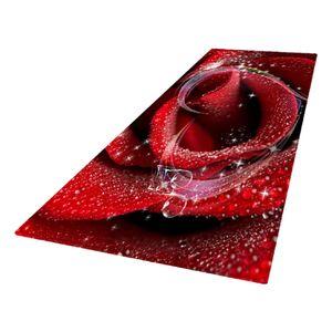 Teppichläufer Küchenläufer Küchenteppich 60 x 180 cm Teppich Läufer 60x180CM Ja Rote Rose 3D Digitaldruck