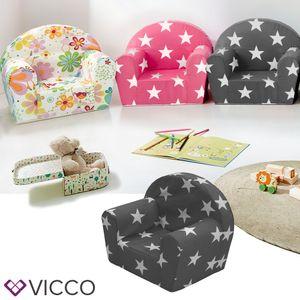 Vicco Kindersessel Kindersofa Minisofa Kindermöbel Sessel Sofa Schaumstoff Sterne grau
