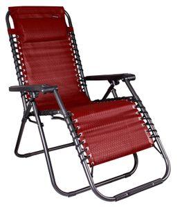 Relax-Sessel 2-er Set, mit Kopfkissen, Stufenlos verstellbar, Farbe: Rot/Schwarz