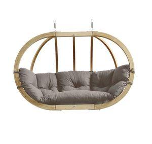 Hängesessel ohne Gestell Amazonas Globo Royal Chair Kissen taupe