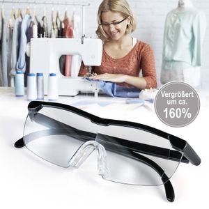 Vergrößerungs Brille Lupen Brillen Zauber Lese Lupe Sehhilfe Lesehilfe Schwarz
