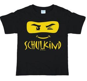 Kinder T-Shirt Schulkind ABC-Schütze, schwarz, Größe:146/152