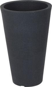 Blumenkübel anthrazit ca. Ø 35 cm - KONISCH - Höhe: 55 cm