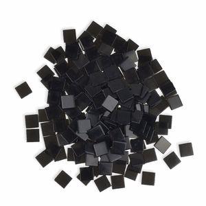 Creleo - Mosaiksteine 10x10mm schwarz 190 Stück 45 g