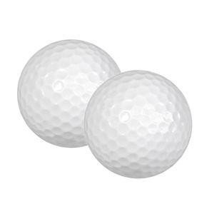 Tragbare 2 Stücke Gummi Golfbälle Indoor Outdoor Praxis Trainingshilfen Sport
