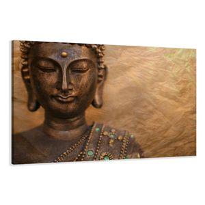 120 x 80 cm Bild auf Leinwand Buddha 5041-VKF deutsche Marke und Lager  -   fertig gerahmt , exklusive Markenware von Visario
