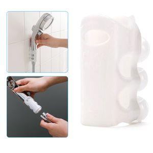 Duschhalterung, 2 Stk. Silikon Duschen Halter Handbrause Halter mit Saugnapf, Ohne Bohren Wasserdichtes Duschkopf Ständer Geeignet für Badezimmer