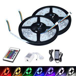 Hengda 10M LED Streifen set , RGB LED Stripe 5050 SMD, LED Strip 60 LEDs, LED Band Wasserdicht(IP65), mit 24 Tasten Fernbedienung