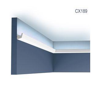 Eckleiste Orac Decor CX189 AXXENT Eckleiste für Indirekte Beleuchtung Zierleiste Stuckleiste modernes Design weiß 2 m