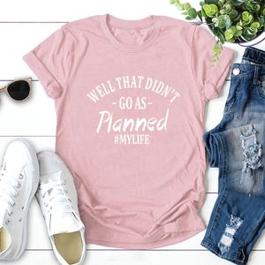 Frauen Plus Size T-shirt Kontrast Slogan Letters Print Rundhals Kurzarm Coole T Sommer TopsL