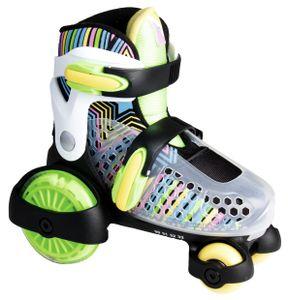 muuwmi Quad Skate mit Leuchtrollen, Größe 30 - 33