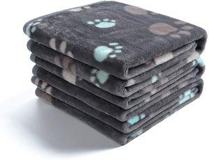 1 Pack 3 Decken Super Weich Fluffy Premium Fleece Haustier Decke Flanell Wurf für Hund Welpen Katze 104*76CM