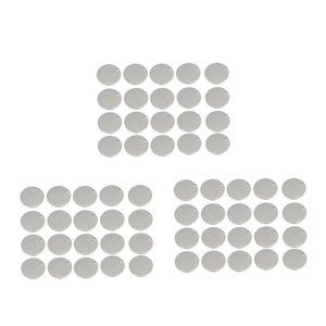 60x Runde Edelstahl Tag Erkenntnisse Haustier Identifikation Metall Rohlinge 12mm