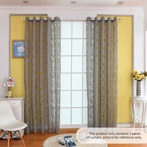 39 * 98 Zoll Polyester halb Blackout Grommet oben Fenster Vorhang Panel Wohnzimmer Schlafzimmer Hotel Voile Vorhang Drape - grau