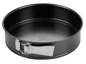 Dr. Oetker Springform Ø 28 cm, Kuchenform mit Flachboden, runde Backform aus Stahl mit Antihaftbeschichtung (Farbe: schwarz), Menge: 1 Stück