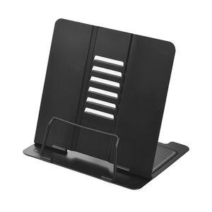 Buchhalter aus Stahl einstellbar sechs Winkel Buchständer Bücherregal Dokumentenhalter Großes Lesewerkzeug für Magazin Dokument Kochbuch Tablet Packung mit 1 schwarz