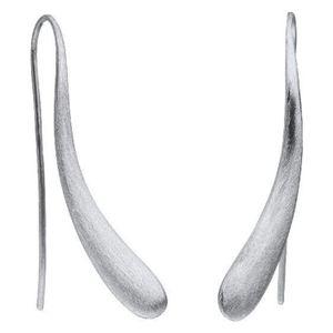 Ohrhänger - Edelstahl - lang mattiert