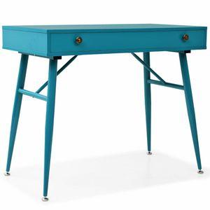 Schreibtisch Möbel,Büromöbel,Schreibtische Schreibtisch mit Schublade 90 x 50 x 76,5 cm Antikgrün