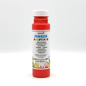 play malmit® Fingerfarben Fingermalfarben Fensterfarben Malfarben Kinderfarben Rot 250ml