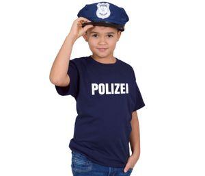 Polizei Kostüm Kinder T Shirt mit Polizeimütze , Größe wählen:98