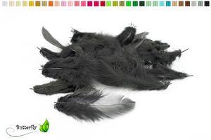 Bastelfedern 5-10cm, ca. 80-100 Stück, Farbauswahl:schwarz 030