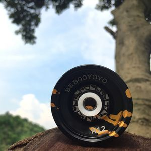 Profi YOYO / JOJO Ball mit Spielzeug Wekzeug, aus Aluminium L: 4,0 cm / 1,57 Zoll # 8 Schwarzes Gold