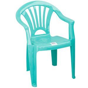 Kunststoff Stuhl für Kinder Farbe Türkis / Petrol - Sitzhöhe 28 cm - ideal für Kinderzimmer, Garten Terrasse, Party