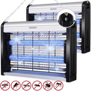 2x Insektenfalle elektrischer Insektenvernichter UV LED Mückenlampe Fliegenfänger 50m² inkl. Aufhängung