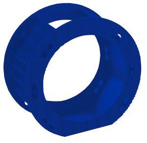Folia Rundlaternen Rohlinge aus 3D-Wellpappe, Ø 22cm, blau (1 Stück)