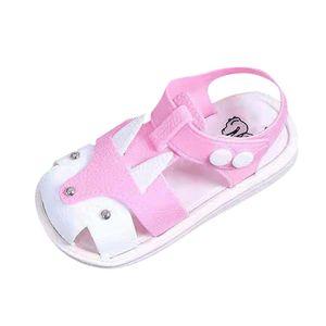 Kinder Kinder Schuhe Jungen Mädchen Closed Toe Summer Beach Sandalen Schuhe Turnschuhe Größe:26,Farbe:Rosa