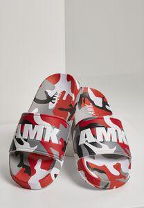 AMK Soldier Slides Schlappen Badeschuhe Badelatschen Sandale Schuhe AMK002, color:red camo, size:42