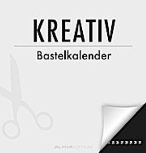 Kreativ-Bastelkalender - immerwährend - schwarz