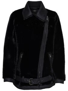 ONLY onlAIDA Damen Faux FUR Biker Jacke OTW, Farbe:Schwarz (Black), Größe:38