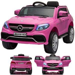 SIMRON - Mercedes-Benz GLE63s GLE 63s AMG SUV Ride-On 12V Elektro Kinderauto elektrisch Kinder Elektroauto mit Fernbedienung und öffnenden Türen Pink/Rosa