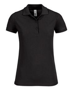 B&C Safran Timeless Women Damen Polo Shirt - PW457, Größe:M, Farbe:Schwarz