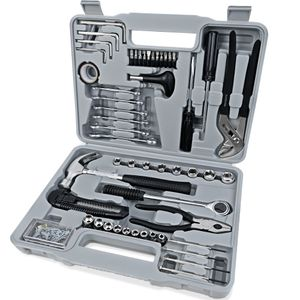 Monzana Werkzeugset 141 tlg. Transportkoffer Stahl Werkzeugkoffer Werkzeugkiste Werkzeugkasten Werkzeugbox