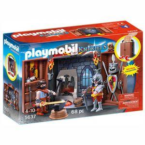 PLAYMOBIL 5637 Aufklapp-Spiel-Box &quotRitterschmiede&quot