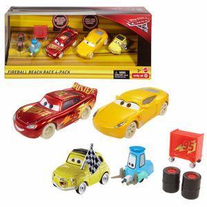 Fireball Beach Racer 4er Pack   Disney Cars   Set Die Cast 1:55   Mattel FCL78