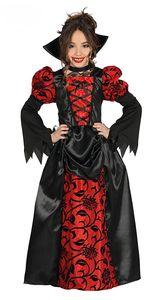kleid Vampir Mädchen schwarz Größe 110/116