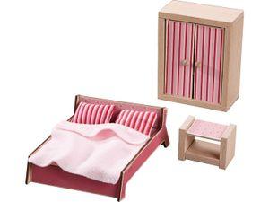 HABA 301988 - Little Friends – Puppenhaus-Möbel Schlafzimmer für Erwachsene 4010168219240