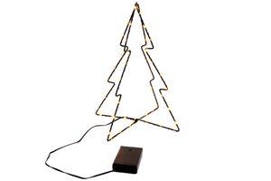 LED Tannenbaum Baum 3D batteriebetrieben 31 cmwarmweiß Innen